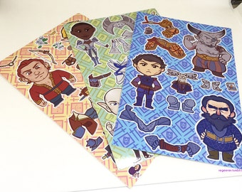 Dragon Age: Inquisition- Dress-Up Vinyl Sticker Sheet
