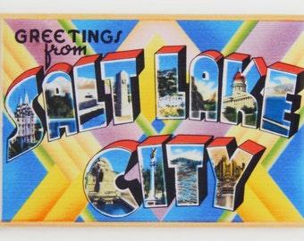 Greetings from Salt Lake City Utah Fridge Magnet