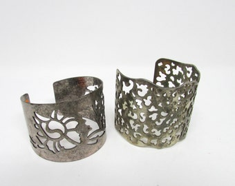Silver Cuff Bracelet Vintage your Choice 2 Styles