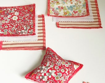 Pincushion Kit Make your Own DIY Liberty of London Gift for the Crafter Seamstress Valentine Made in America Sewing Notion