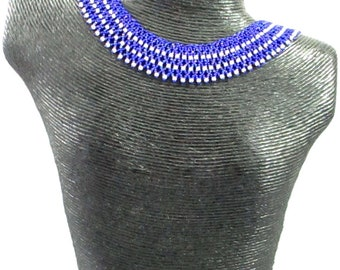 Royal Blue Collar Necklace