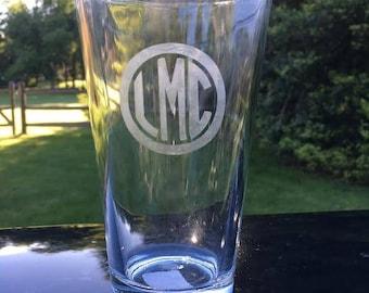 Custom Etched Beer Glasses