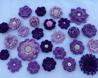 Kit crochet flowers (26pcs)