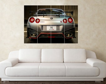 Large Nissan Skyline GTR R35 JDM Rear Sports Car Wall Poster Art Picture  Print