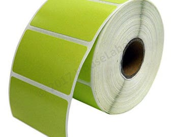 """1 Roll 1000 GREEN Labels per Roll, Zebra Eltron Compatible Direct Thermal 2.25 x 1.25 GREEN Labels (2-1/4"""" x 1-1/4"""") -- BPA Free!"""