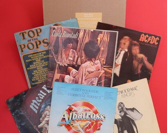 Hand-Picked Mystery Vinyl LP Gift Box - Hits from the 70s - Disco, Funk, Soul, Rock, Jazz