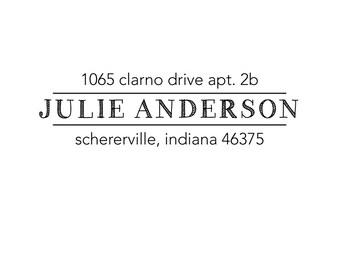 sketch name rubber address stamp