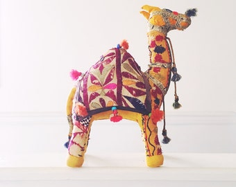 Vintage Boho Stuffed Camel