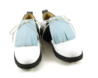 Kilties for Mens Golf Shoes, Golf Shoes for Men, Swing Dance Shoes, Lindy Hop, Marching Band Cheer-leading Shoes Gift for Golfers, Shoe Kilt