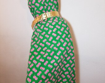 FREE  SHIPPING  1960  Full  Skirt  Cotton  Dress