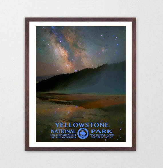 Yellowstone National Park - Yellowstone Poster - National Park Art - National Park Poster - WPA - WPA Poster  WPA Art - Yellowstone Wall Art
