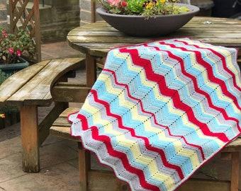 Crochet Baby Blanket | Crochet Ripple Blanket | Crochet Pram Blanket | Car Seat Blanket | Crochet Baby Girl Blanket | Hand Made Blanket