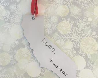 California Ornament - Personalized California Ornament - California Christmas Ornament - California State Holiday Ornament Keepsake Ornament
