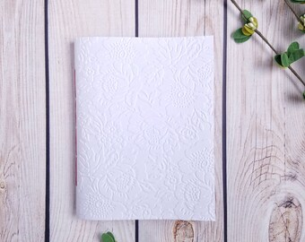Handbound Unlined Journal, Lined Journal, Grid Journal, Dotted Journal - Embossed Springtime Blooms,  Travel Journal, Sketchbook, Notebook