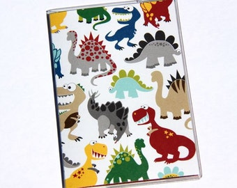 PASSPORT COVER - Happy Dinosaurs. Passport Holder, Passport Case, Travel Wallet, Travel Gift Idea, Stocking Stuffer, Wanderlust, Gift Idea