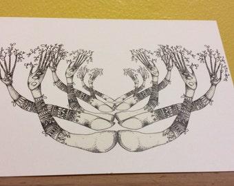 Treehands blank greetings card