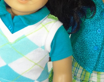 18 Inch Doll Clothes -- Mix and Match Wardrobe -- 5 Piece Outfit (3-12)