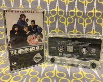 The Breakfast Club Original Soundtrack Cassette Tape 80s new wave pop Simple Minds Wang Chung