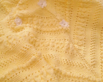 Baby Buttercup blanket knitting pattern