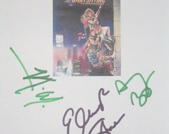 Adventures in Babysitting Signed Movie Film Script Screenplay X3 Autograph Elisabeth Shue Anthony Rapp Vincent D'Onofrio signature funny