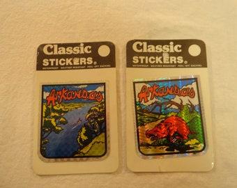 Pair Of 1980 Decal Specialties Inc. Classic Stickers Arkansas