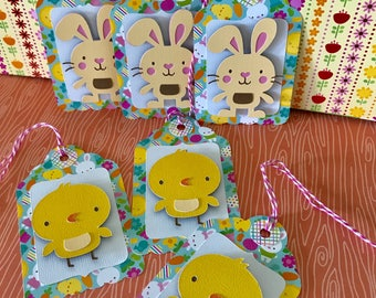 Easter Basket Tags • Easter Gift Tags • Easter Favor Tags • Bunny Tag • Chick Tag • Kid's Easter Tag