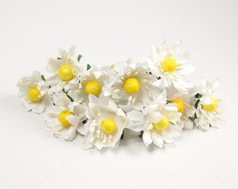 Bridal Hair Accessories, Ivory and Yellow Daisy, Daisy Hair Bobby Pin- sets 7