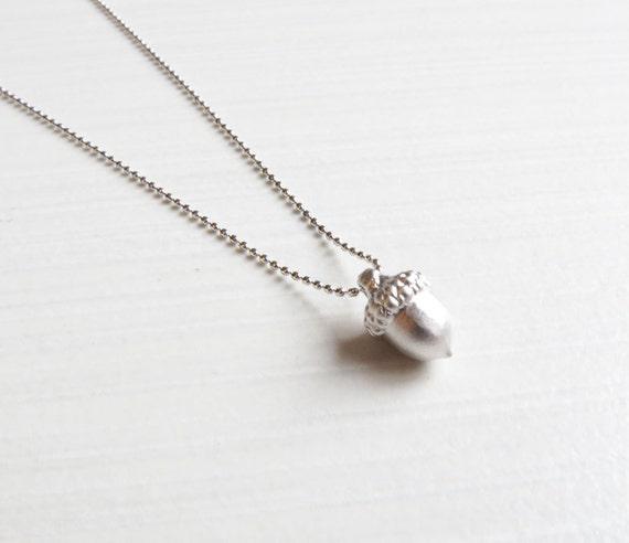Silver Acorn Necklace