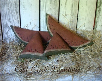 Primitive Watermelon Slices and Chunks Bowl Filler/Tucks