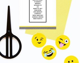Emoji Baby Shower Invite - Printable & Editable PDF - Instant Download