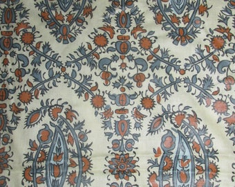 Authorized Old Sturbridge Village Waverly Fabric New England Paisley Fabric Vintage Waverly Fabric Blue  Traditional Fabric BTY By The Yard