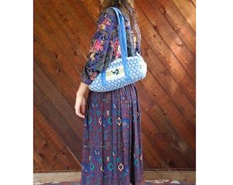 Ditsy Floral Quilted Shoulder Tote Bag - Vintage 90s