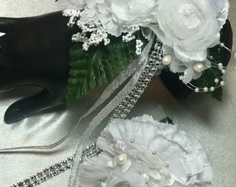 Corsage and boutonniere one of a kind set