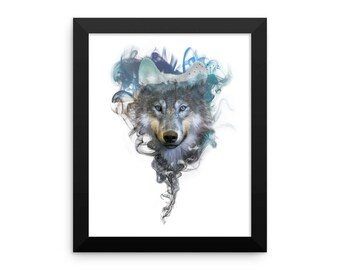 Framed photo paper print - Wolf - Spirit Animal