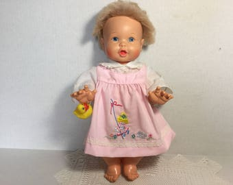 Rub A Dub Dolly Baby Doll, 1973 Ideal Toys Air Tight Bathing Doll