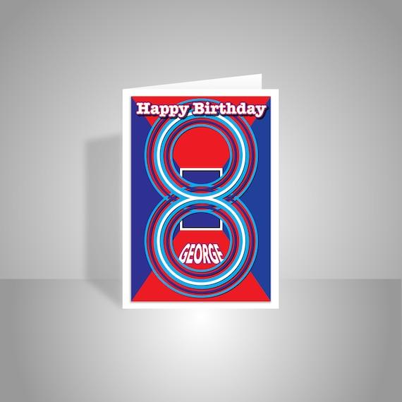Personalised 8th birthday card edit name happy birthday like this item bookmarktalkfo Images