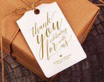 Gold Thank You Tag, Gift Tags, Wedding Thank You Tags, Wedding Favor, Thank You Printable, Favor Tag, DiY Kraft Printable tags, WPC_181SD1C