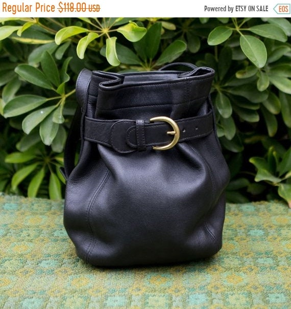 JULY SALE Gorgeous Vintage Coach Black Leather Crossbody b376df73d70b9
