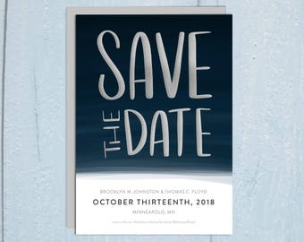 Digital or Printed Save The Date - Hand Drawn Type