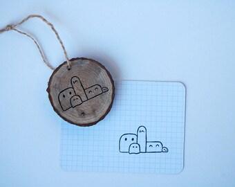 Halloween stamp // handmade rubber stamp // creatures stamp // scrapbooking // crafts // Bullet Journal // eraser stamp // Rubber stamp