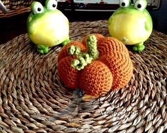 Pumpkin- MADE to ORDER- Decorative pumpkin plush, Autumn decor, Halloween