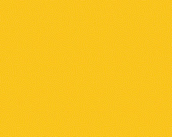 Yellow Dandelion cotton Fabric, Basically Patrick Blenders by Patrick Lose Fabrics, yard