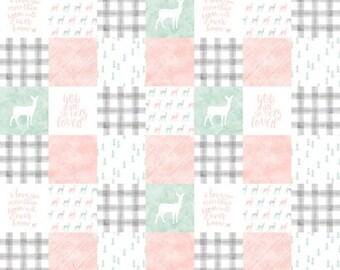 Quilt- woodland,  minky quilt, woodland nursery, baby boy nursery, adventure, modern nursery, baby boy