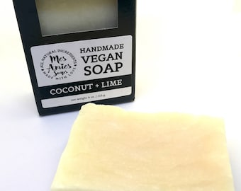 Coconut + Lime Soap | Blemish Soap | Feminine Soap | Acne Soap | Minimalist Soap | Vegan Soap | Minimalist Gift Idea for Vegan | Zero Waste