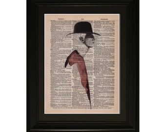 """Rouge"""".Dictionary Art Print. Vintage Upcycled Antique Book Page. Fits 8""""x10"""" frame"""