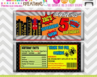 CBW-343: DIY -  Super Hero 16 Candy Bar Wrapper