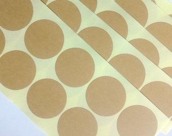 40 pcs x 50 mm Round kraft label sticker