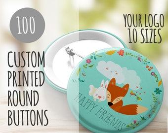 Custom Button, Pin Badge, Pin Back Button, Custom Party Favor, Custom Wedding Favor, Buttons in Bulk, Wholesale Buttons, Bulk Buttons