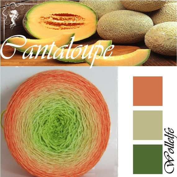 Things I loved in March - Cantaloupe gradient yarn by Wollelfe