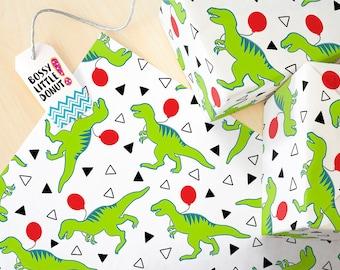 Birthday Dinosaur Wrapping Paper, birthday wrapping paper, dinosaur birthday party, dinosaur birthday wrapping paper, birthday gift wrap